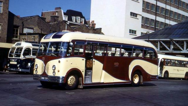 1954 Albions formed the core of Charlies Cars fleet and this is 68, ORU263, an FT39AL with FC35F Harrington body
