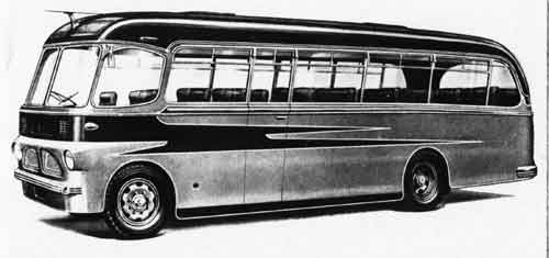 1954 Harrington Commer Avenger chassis built to the appearance of the Wayfarer Mk 4