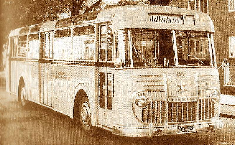 1955 Henschel Bus HS 200 UN mit Unterflur Motor