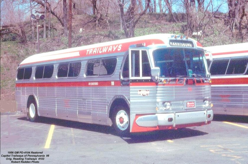 1956 GM PD-4104 Capitol Trailways of Pennsylvania 98