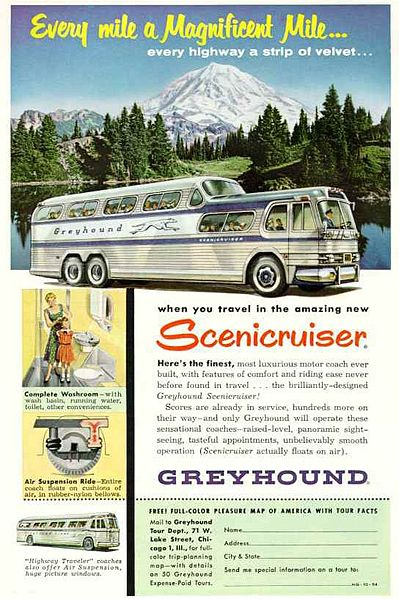 1956 GM PD-4501 Scenicruiser Greyhound