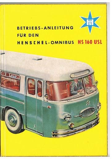 1959 HENSCHEL HS160USL betriebs anleitung