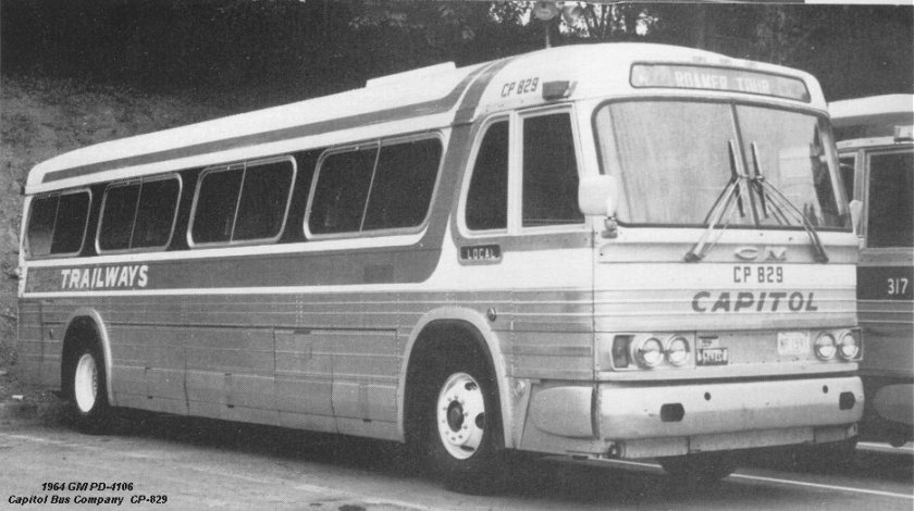 1964 GM PD-4106 Capitol Bus Company CP-829