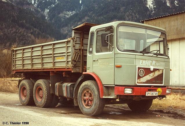 1970 ÖAF-26-260-Pritschenkipper-graubeige-Ch-rot-Ebner