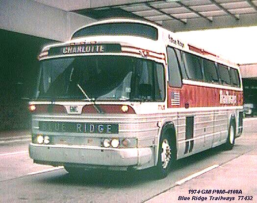 1974 GM P8M-4108 Blue Ridge Trailways 77432