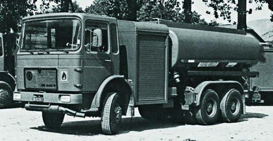 1977 ÖAF 26.240FDA bowser , 6x6