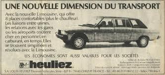 1978-84 Heuliez Peugeot 604 Limousine ad