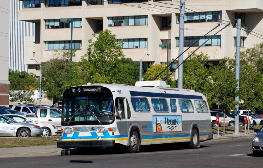 Edmonton BBC trolleybus