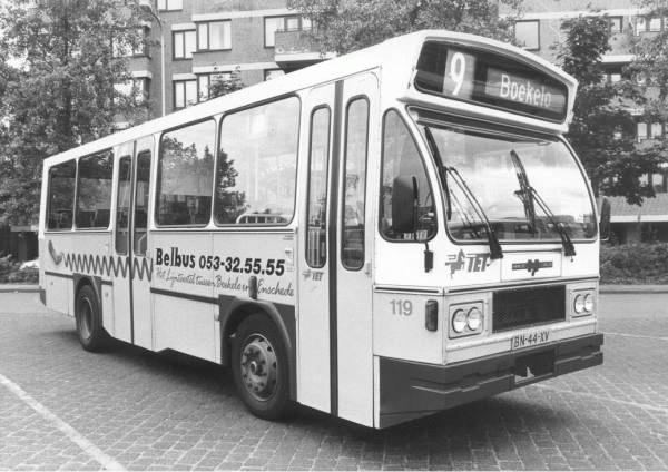1982 Volvo B6 FA Midibus 119  met carrosserie van Hainje. Belbus voor de minder drukke lijnen