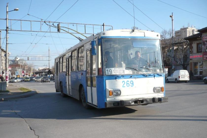 1987 Nine articulated Sauer Hess trolleybuses from St. Gallen Plovdiv-269