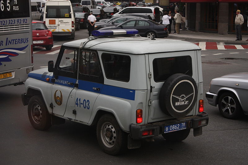 2009 Russian Police UAZ Hunter in Saint Petersburg