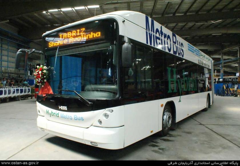 2010 HESS (AKIA) hybrid metro busses in state of assembly Iran