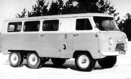 Bussen UAZ-452 experimental 6x6 12s  1973