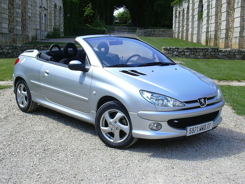 Peugeot 206cc avec Retractable roof by Heuliez