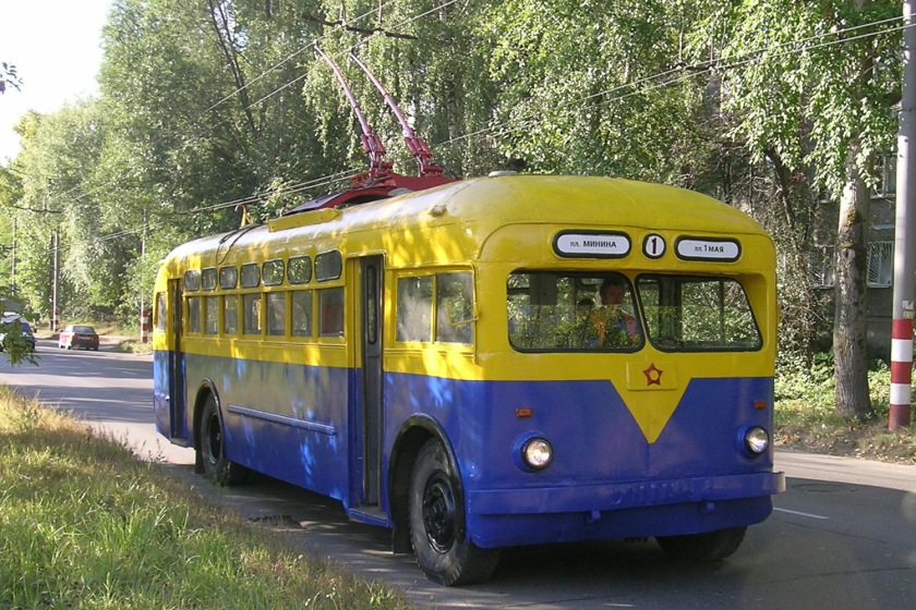 ZiU Trolza MTB-82 trolleybus number 57 is GM