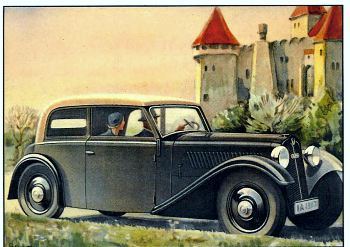 1932 Dkw F2 4 seter Cabrio Coach