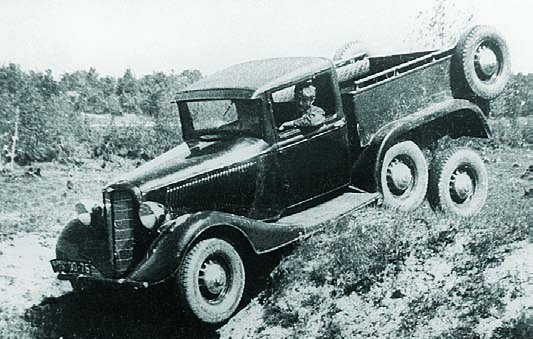 1937 GAZ-21 prototype pick-up, 6x6