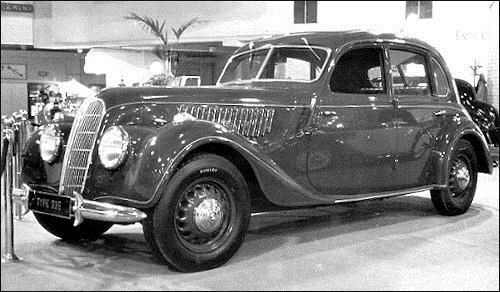 1938 BMW 335 at Earls Court in London