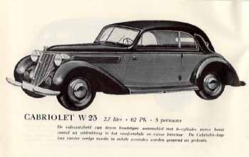 1938 Wanderer W23 Kabriolett