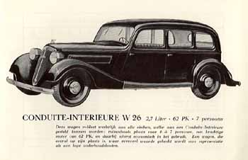 1938 Wanderer W36 7 seat Limo