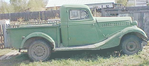 1939 GAZ Pick Up m1pikap Molotok