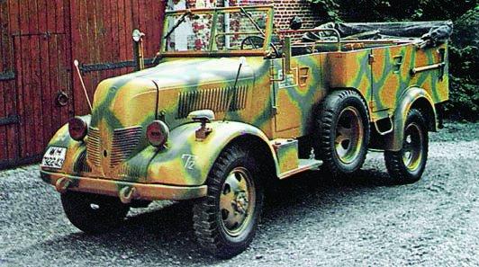 1944 Phanomen Granit-1500А (Kfz.70), 4x4