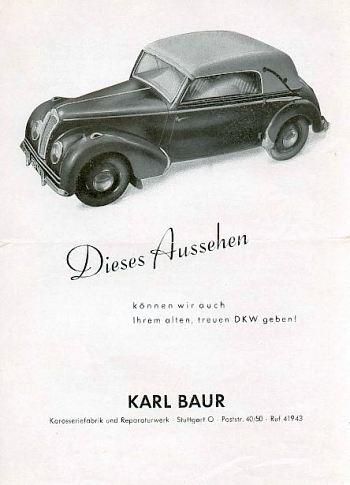 1949 Dkw baur