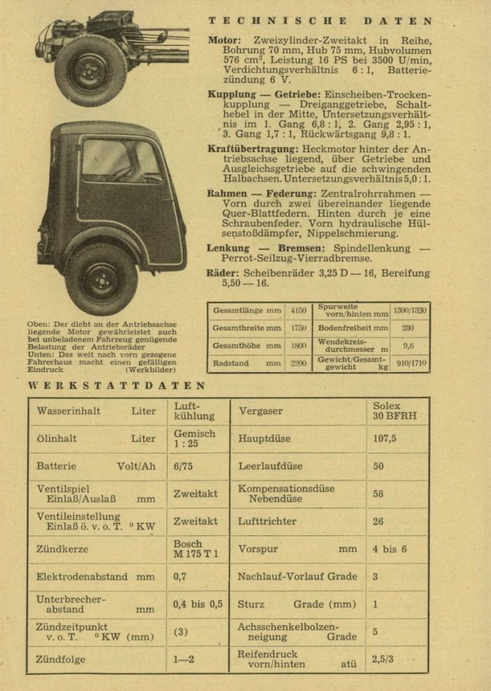 1949 Gutbrod-Atlas-800-Datenblatt
