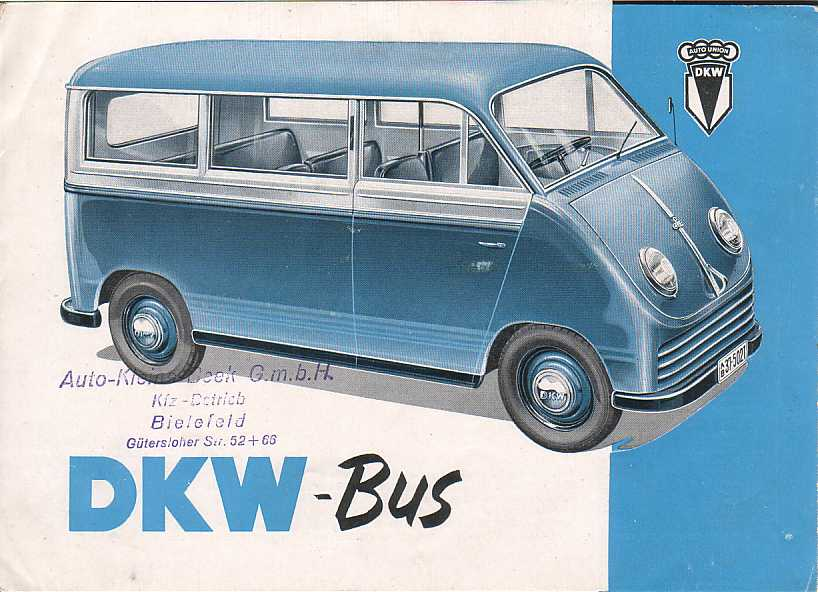 1950 Auto Union DKW Bus Ad