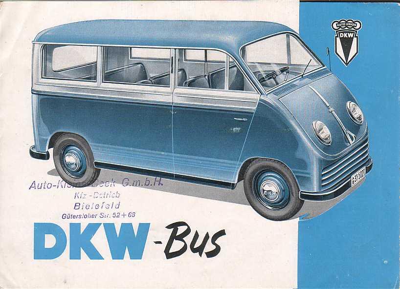 1950 Auto Union DKW Bus Ad