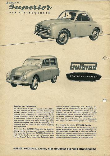 1950 Gutbrod Superior Kleinwagen Catalog