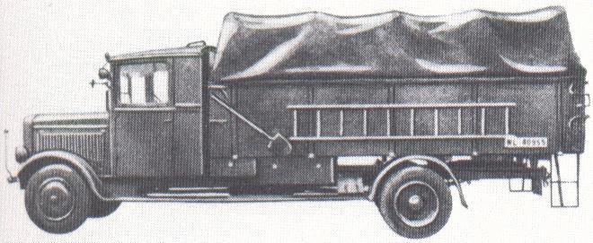 1950 Hansa-Lloyd Merkur IIID of the Luftwaffe