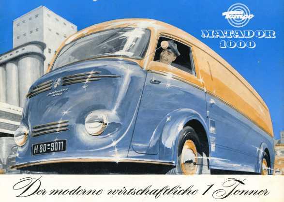 1950 Tempo Matador 1000 1 Tonner Catalogue