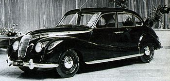 1951 BMW 501 premiera we Frankfurt