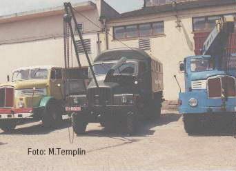 1951 IFA G 5 Werkstattkoffer mit Anbaukran als Feldwerkstatt