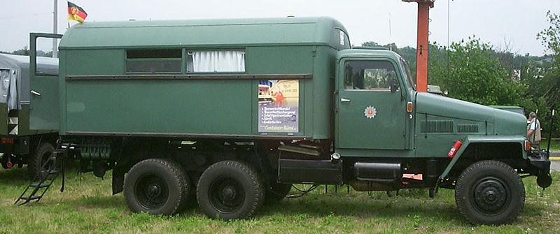 1952-64 IFA G5 der Volkspolizei mit Kofferaufbau