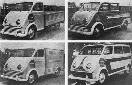 1952 Auto Union Pick Up simple y doble cabina, furgón y minibus. Argentina