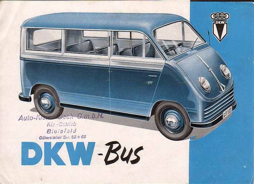 1952 DKW Bus Catalogue