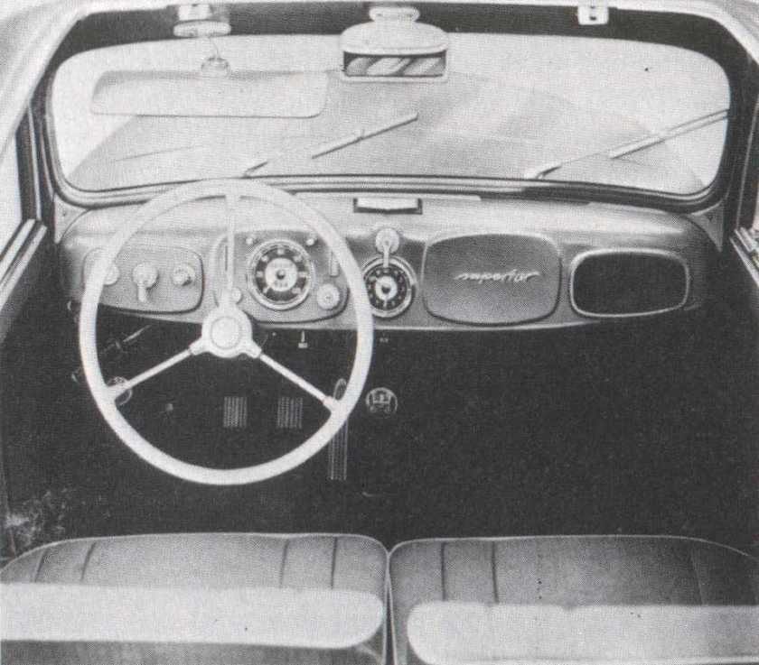1952 Gutbrod Superior Interior, truly `superior`