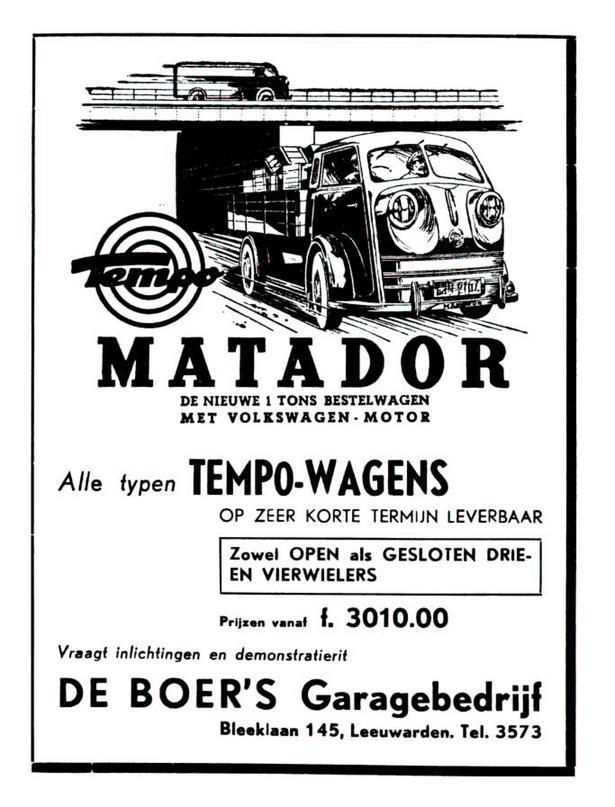 1952 Tempo Matador ad