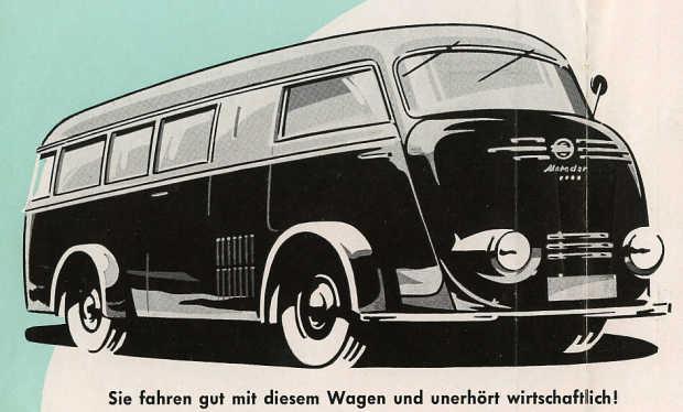1952 Tempo Matador Kleinbus 2-3-1