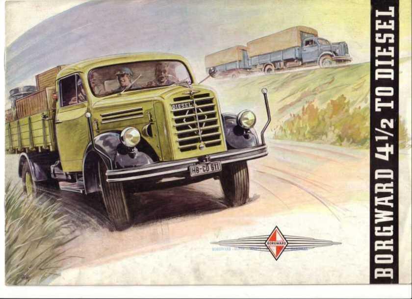 1953-61 Borgward B 4500  B555, B 4500 A   B 555 A