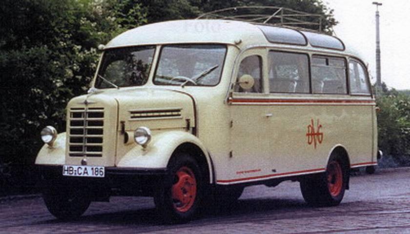 1953 Borgward B 1500 D MB Diesel 1755cc