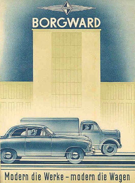 1953 Borgward hansa brochure