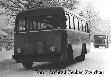 1953 IFA mit Ernst Grube H3 Busaufbau