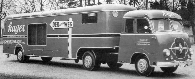 1954-61 Borgward 2de serie  B3000 trekker met oplegger