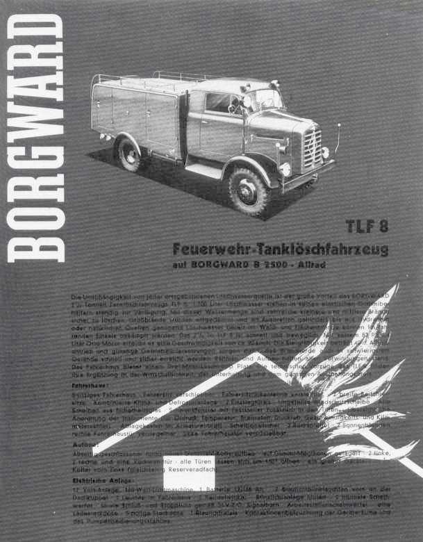 1954-61 Borgward B 2500  B 522, B 2500 A - B 522 A (A=Allrad)