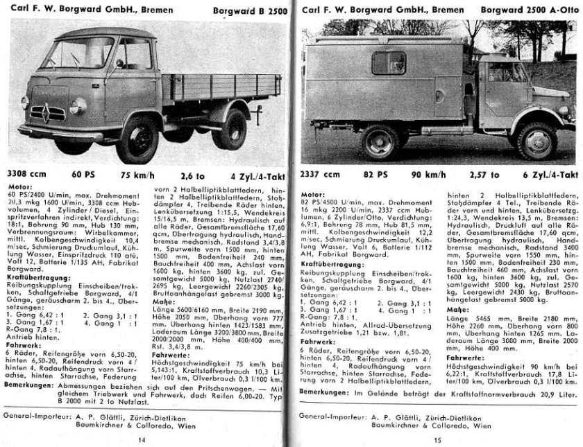 1954-61 Borgward b2500 1