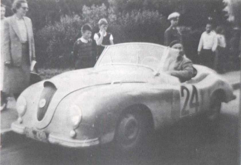 1954 Gutbrod Superior Roadster, Count von Schulenburg at a Rally
