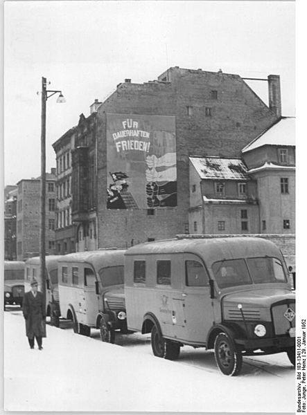 1954 IfA-Postlastkraftwagen H3A-Kastenwagen der Deutschen Post
